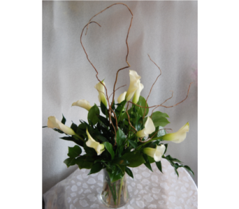 10 White Mini Callas in Orlando FL, Colonial Florist