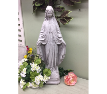 Mary with Stole in Owensboro KY, Welborn's Floral Company