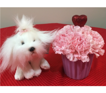 Mini Cupid Special �Puppy Love� 4YOUR LITTLE GIRL in Massapequa Park NY, Bayview Florist & Montage  1-800-800-7304