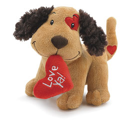 Fetching Your Heart Plush Dog in Eden Prairie MN, Belladonna Florist