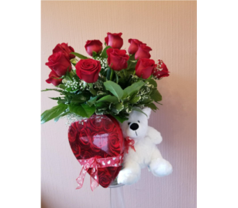 Roses, Teddy Bear & Chocolates in Staten Island NY, Kitty's and Family Florist Inc.