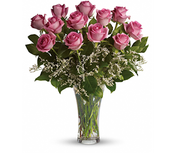 Make Me Blush - Dozen Long Stemmed Pink Roses in Las Vegas NV, Flowers By Michelle