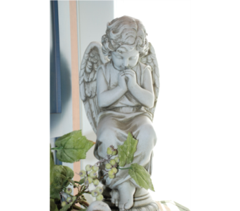 Praying Angel in Hales Corners WI, Barb's Green House Florist