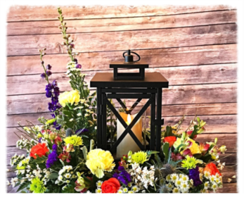 Cylinder Lantern in Wilmington IL, The Flower Loft Inc