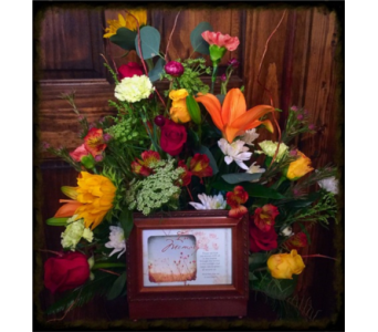 Music Box Arrangement in Wilmington IL, The Flower Loft Inc
