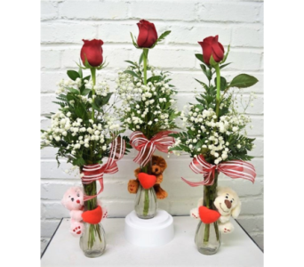 Bear Hug Bud Vases in Springfield MO, House of Flowers Inc.