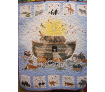 Traditional Noah''s Ark Baby Quilt in Johnstown PA, Schrader's Florist & Greenhouse, Inc