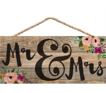 JUTE SIGN MR AND MRS in Port St Lucie FL, Flowers By Susan