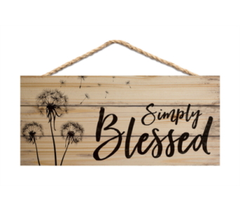 JUTE SIGN SIMPLY BLESSED in Port St Lucie FL, Flowers By Susan