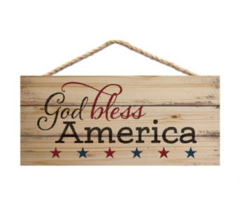 JUTE SIGN GOD BLESS AMERICA in Port St Lucie FL, Flowers By Susan