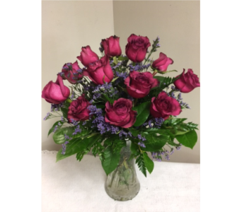 One Dozen Purple Roses in Laurel MD, Rainbow Florist & Delectables, Inc.