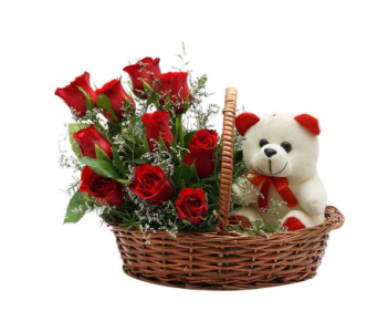 Cute Love Basket in Sudbury ON, Xpressions Flowers & More