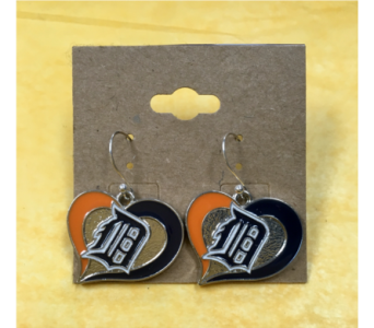 Detroit Tigers Earrings  in Muskegon MI, Barry's Flower Shop