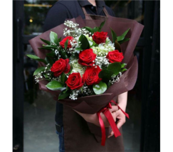 Dozen Long Stemmed Roses Bouquet in Sudbury ON, Xpressions Flowers & More