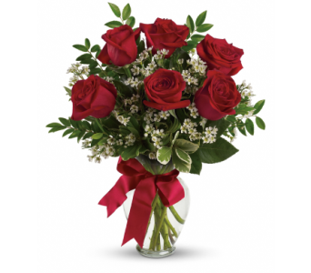 6 Red Roses in Kalispell MT, Flowers By Hansen, Inc.