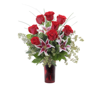 Romantic Roses and Lilies in Kalispell MT, Flowers By Hansen, Inc.