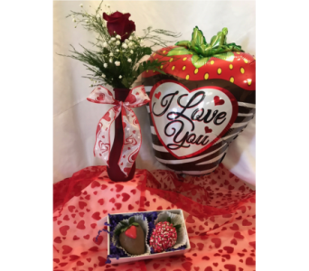 Strawberry Passion Valentine Special  in Mount Vernon OH, Williams Flower Shop