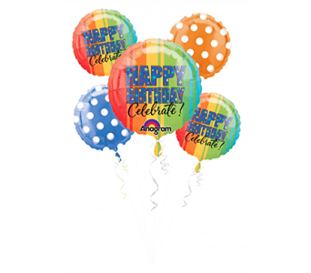 Celebrate Balloon Bouquet in Indianapolis IN, Steve's Flowers and Gifts