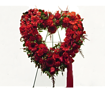 Open Heart in Crimson in Herndon VA, Herndon Florist, Inc