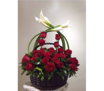 Basket of love in El Paso TX, Karel's Flowers & Gifts