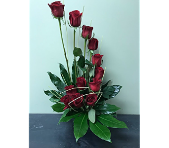 Dozen Roses With A Twist in Fairless Hills PA, Flowers By Jennie-Lynne