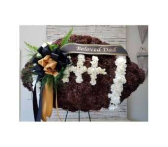 Specialty Spray - Football in Trumbull CT, P.J.'s Garden Exchange Flower & Gift Shoppe