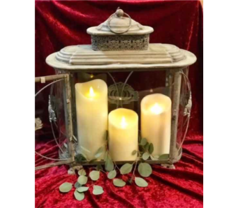 Lantern with Luminara candles in Loudonville OH, Four Seasons Flowers & Gifts