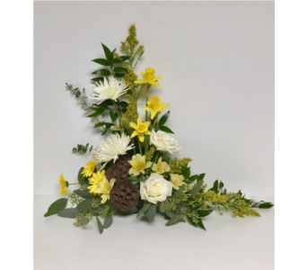 Lotus of Spring Floral Design with Daffodils in Wyoming MI, Wyoming Stuyvesant Floral