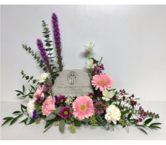 In Our Hearts Forever Stone Arrangement in Wyoming MI, Wyoming Stuyvesant Floral