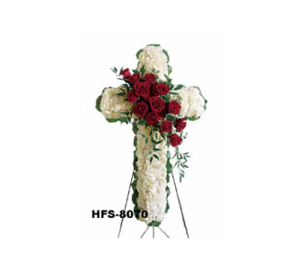 White Elegance Cross in Fairfield CT, Sullivan's Heritage Florist