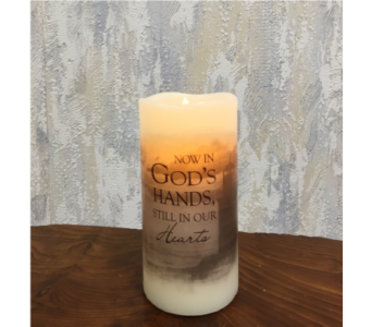 God's Hands Premier Flicker LED Candle in Wyoming MI, Wyoming Stuyvesant Floral