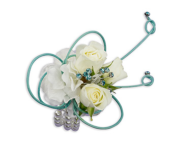 French Quarter Wrist Corsage in Charlottesville VA, A New Leaf Florist