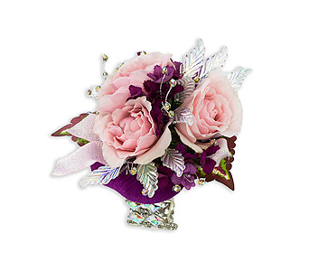 Shimmer Wrist Corsage in Oshkosh WI, Flowers & Leaves LLC
