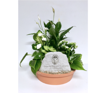 In Our Hearts Forever Stone Dish Garden - 12 inch in Wyoming MI, Wyoming Stuyvesant Floral