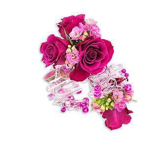 Funfetti Wrist Corsage in Oshkosh WI, Flowers & Leaves LLC