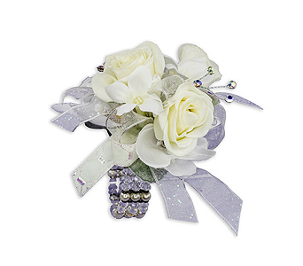 Simple Elegance Wrist Corsage in Oshkosh WI, Flowers & Leaves LLC
