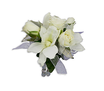 Elegance Wrist Corsage in Columbus OH, Villager Flowers & Gifts