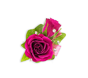 Fuchsia Boutonniere in Chesterton IN, The Flower Cart, Inc