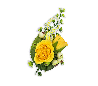 Sun-kissed Boutonniere in Chesterton IN, The Flower Cart, Inc