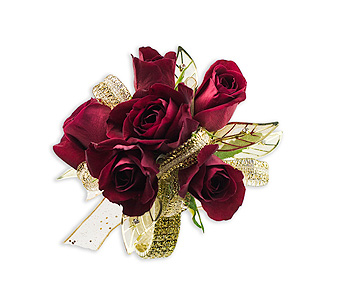 Golden Ruby Wrist Corsage in Greenwood Village CO, Arapahoe Floral