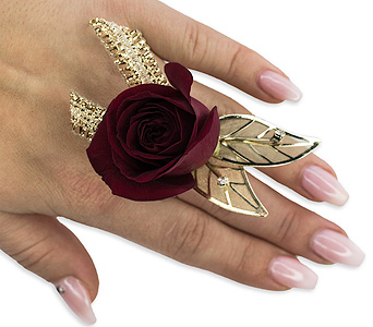 Ruby Metallic Floral Ring in Sault Ste Marie MI, CO-ED Flowers & Gifts Inc.