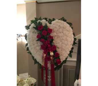 Cushion Heart with Break in Staten Island NY, Kitty's and Family Florist Inc.
