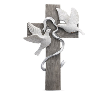 Cross with Doves in East McKeesport PA, Lea's Floral Shop
