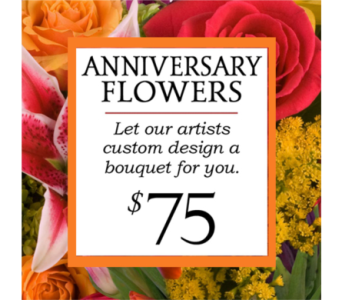 Custom Design Anniversary Bouquet $75 in Indianapolis IN, George Thomas Florist
