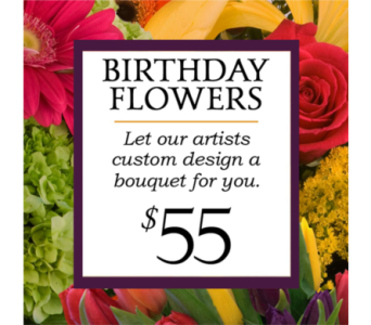Custom Design Birthday Bouquet $55 in Indianapolis IN, George Thomas Florist