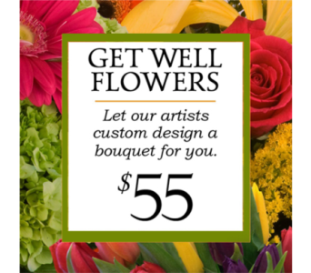 Custom Design Get Well Bouquet $55 in Indianapolis IN, George Thomas Florist