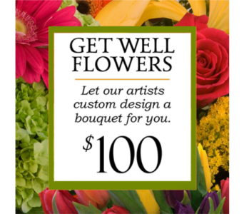 Custom Design Get Well Bouquet $100 in Indianapolis IN, George Thomas Florist