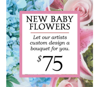 Custom Design New Baby Bouquet $75 in Indianapolis IN, George Thomas Florist