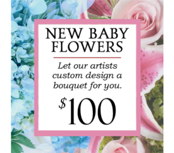 Custom Design New Baby Bouquet $100 in Indianapolis IN, George Thomas Florist