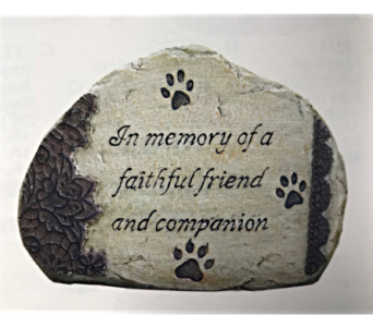 Pet Memorial Stone in Dayton OH, Furst The Florist & Greenhouses